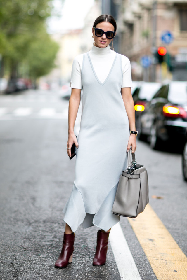 turtleneck under dress short sleeve turtleneck mock neck burgundy booties midi dress evening to day night to day dressing stylecaster