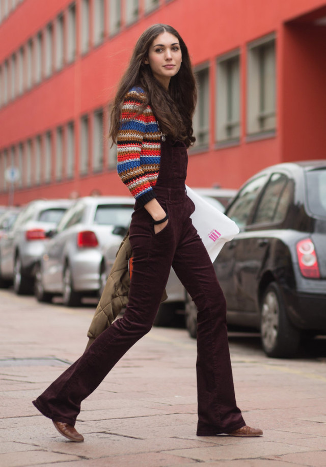 what to wear shopping, winter outfits, weekend outfits, holiday shopping outfit, velvet overalls burgundy rainbow stripes boho 70s trend fall outfit street style weekend brunch