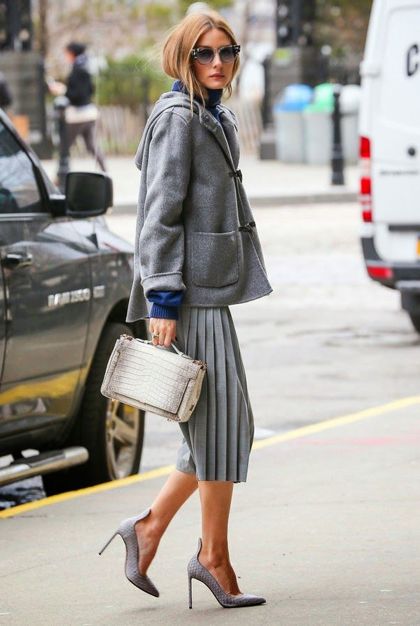 grey-monochromatic-groutfits-olivia palermo-grey coat-toggle coat-the olivia palermo lookbook