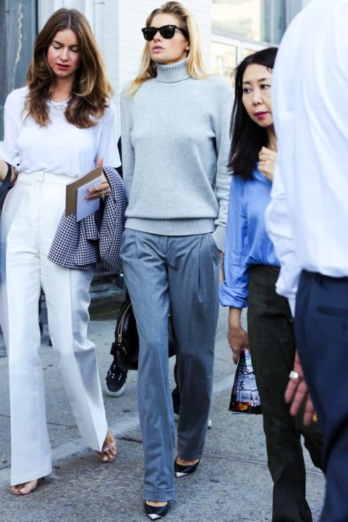 grey-monochromatic-groutfits-wide leg pants-grey turtleneck-menswear-jessica hart-via-www