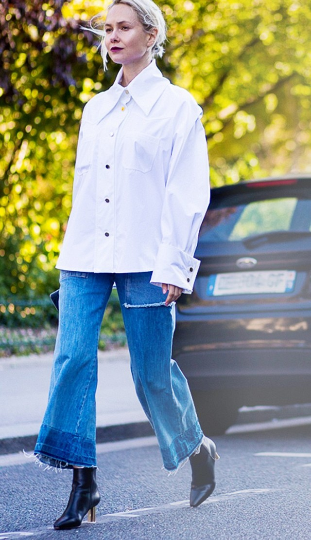 huge cuffs-cropped jeans-hemlines-frayed hemlines-cropped jeans and boots-cropped pants and booties-