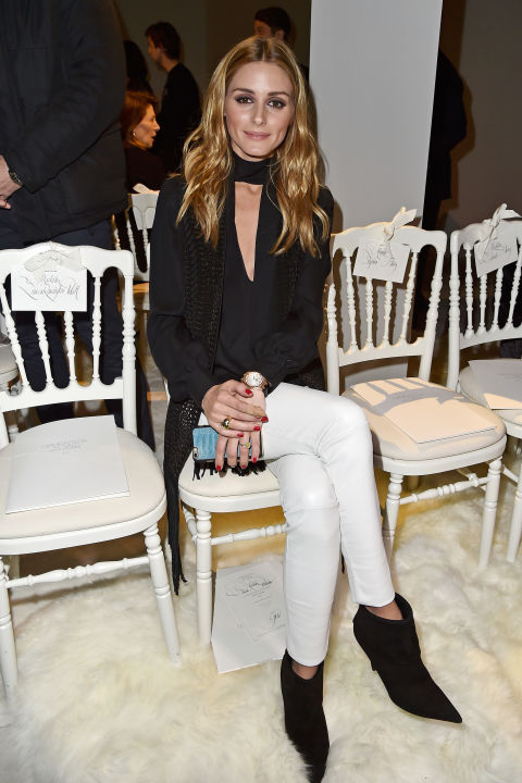 paris couture fashion week-winter outfit-going out outfit-skinny scarf-olivia palermo-