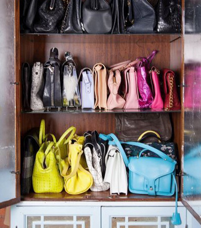 Purse Organization Organize Purses In A Cabinet Closet Accessories Via Nicolette