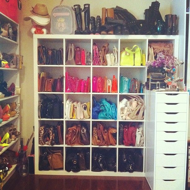 Purse Organization Cuvvies Ikea Shelf For Closet Hacks