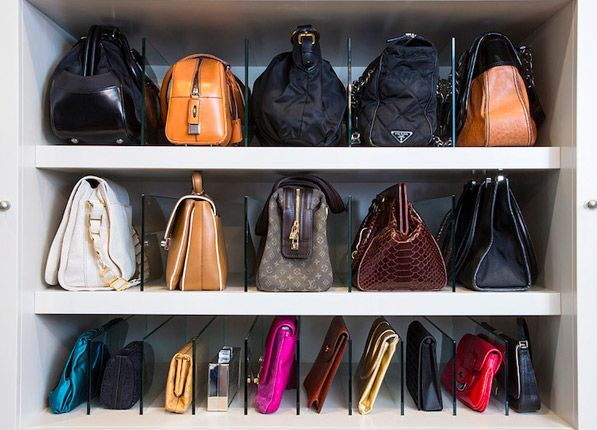 Purse Organizing Closet Organization Via Purewow