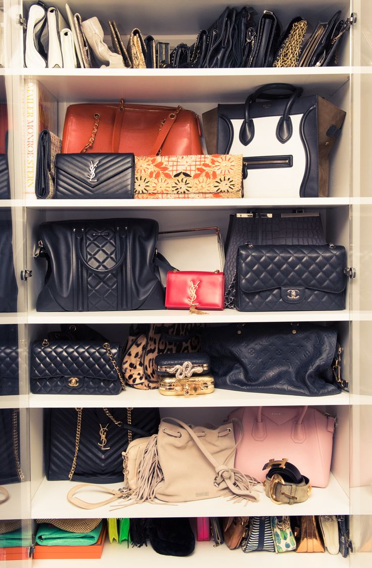 Image Of Purse Holder In Closet