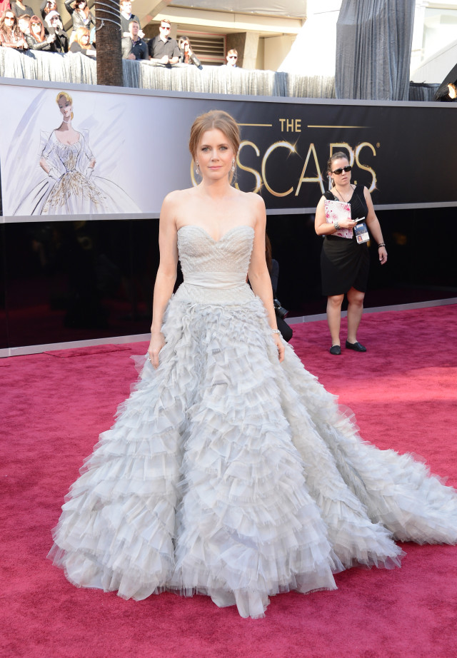 HOLLYWOOD, CA - FEBRUARY 24: Actress Amy Adams arrives at the Oscars at Hollywood & Highland Center on February 24, 2013 in Hollywood, California. (Photo by Jason Merritt/Getty Images)