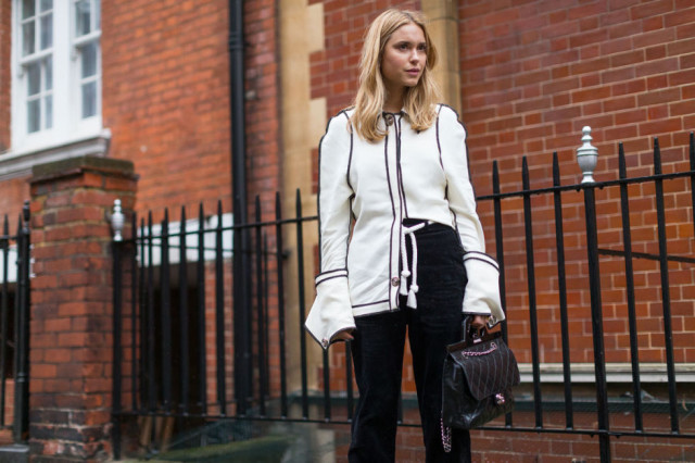 cuffs-black trousers-piping-oversized-cuffs-work-fw street style-hbz-look de pernille