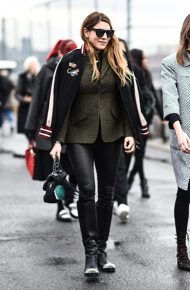 what to wear in the rain, nyfw street style