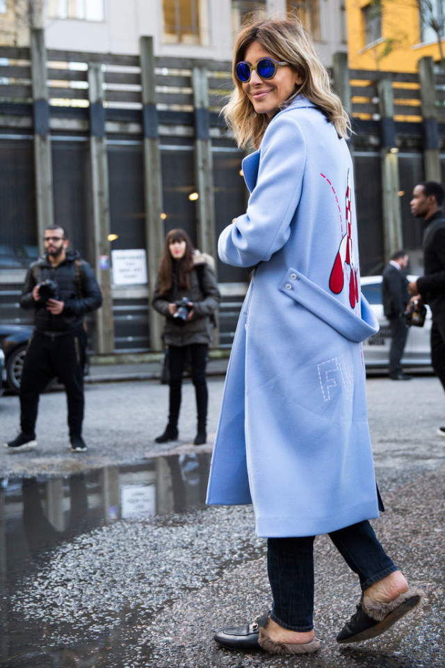 graphic coat-statement coat-fur gucci slides-lfw-psuk