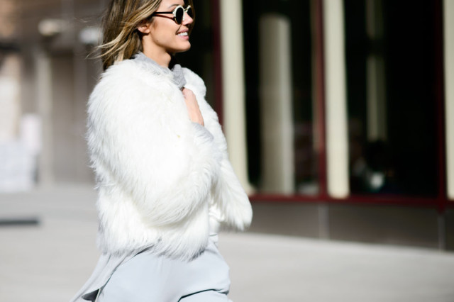 greige-white fur coat-fur bomber jacket-elee