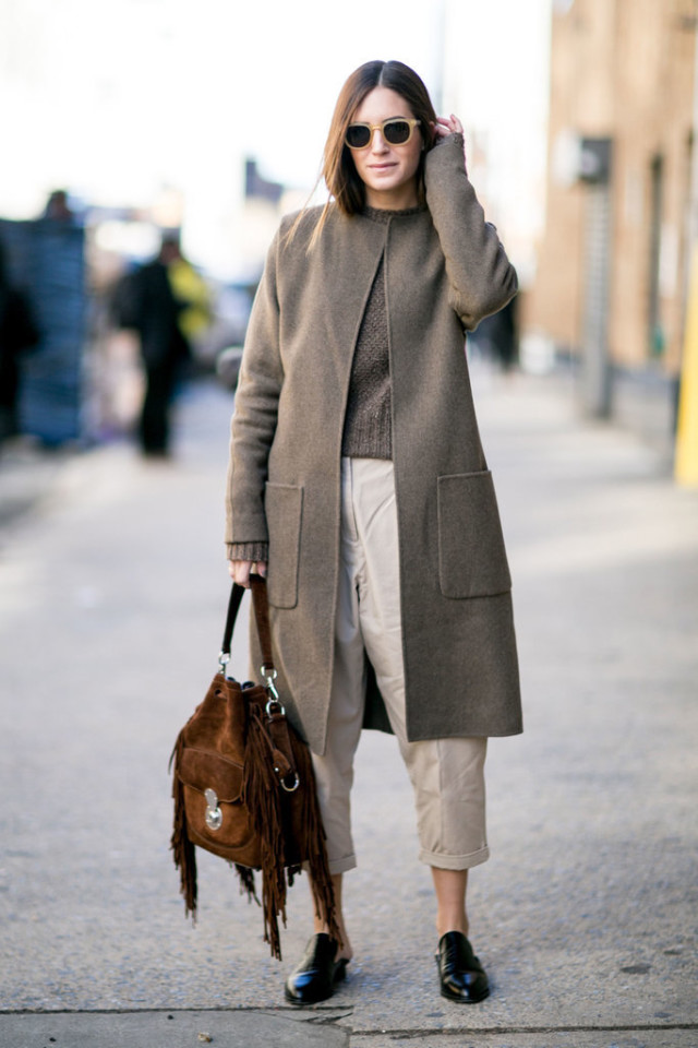 khakis-rolled pants-fringe bag-loafers-neutrals-fall neutrals-greige-ps