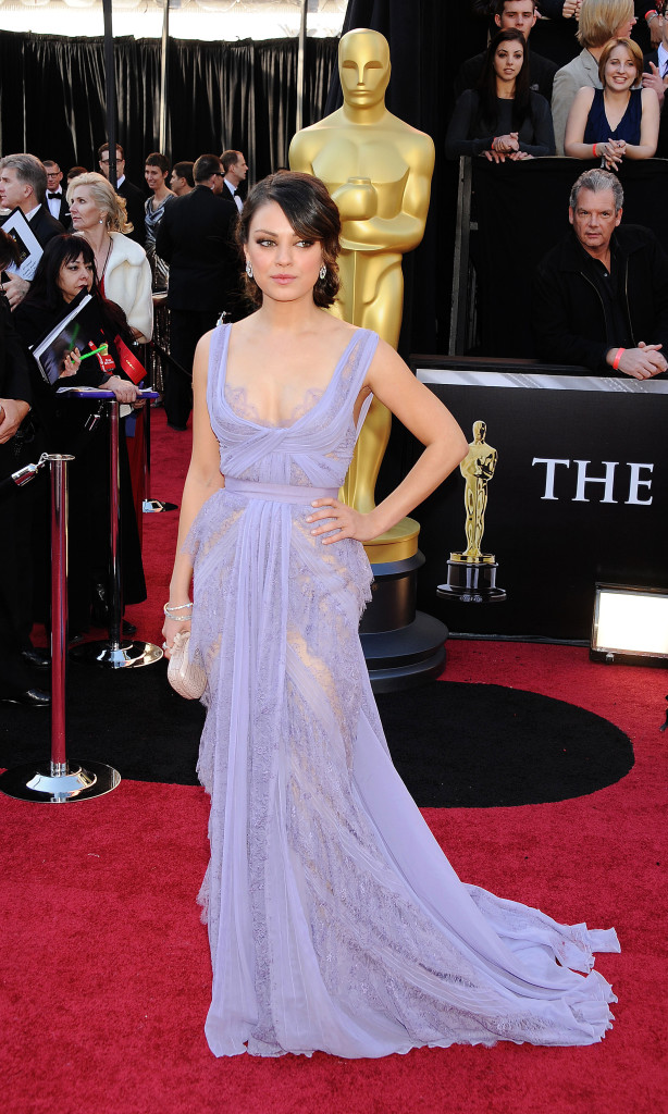 Mila Kunis arrives at the 83rd Annual Academy Awards at the Kodak Theatre on February 27, 2011 in Hollywood, California. (Photo by Jeffrey Mayer/WireImage)
