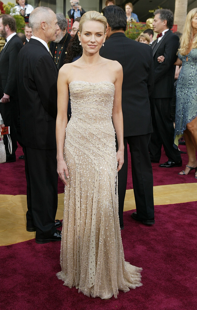 "HOLLYWOOD, CA - FEBRUARY 29: Actress Naomi Watts, nominated for Best Actress for her performance in ""21 Grams"" attends the 76th Annual Academy Awards at the Kodak Theater on February 29, 2004 in Hollywood, California. (Photo by Carlo Allegri/Getty Images)"