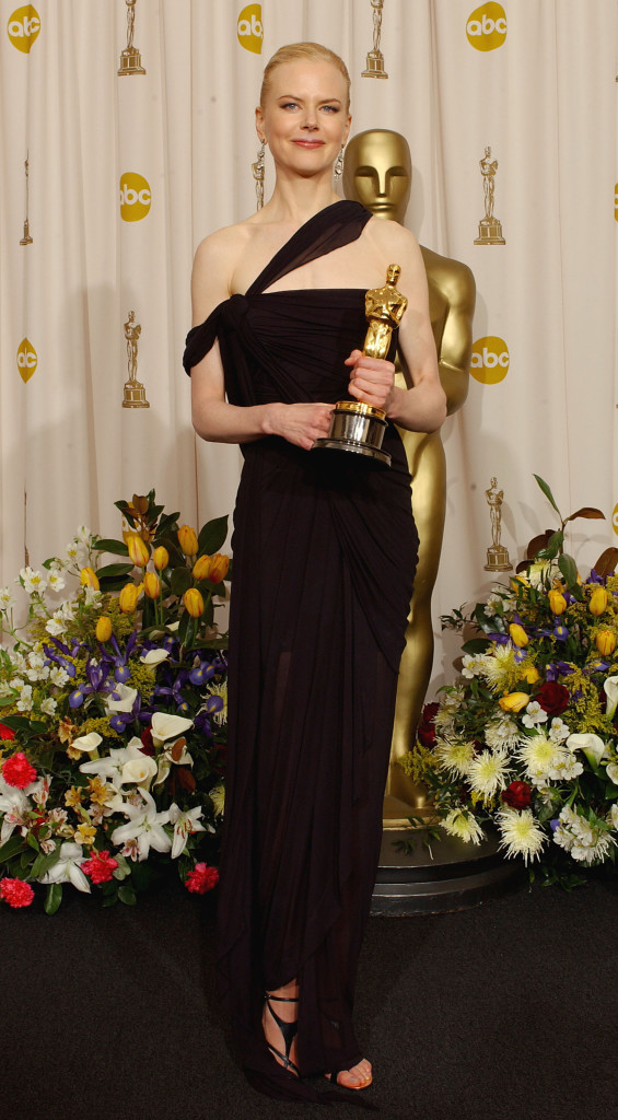 HOLLYWOOD - MARCH 23: Winner for Best Actress for 'The Hours,' Nicole Kidman poses during the 75th Annual Academy Awards at the Kodak Theater on March 23, 2003 in Hollywood, California. (Photo by Frank Micelotta/Getty Images)