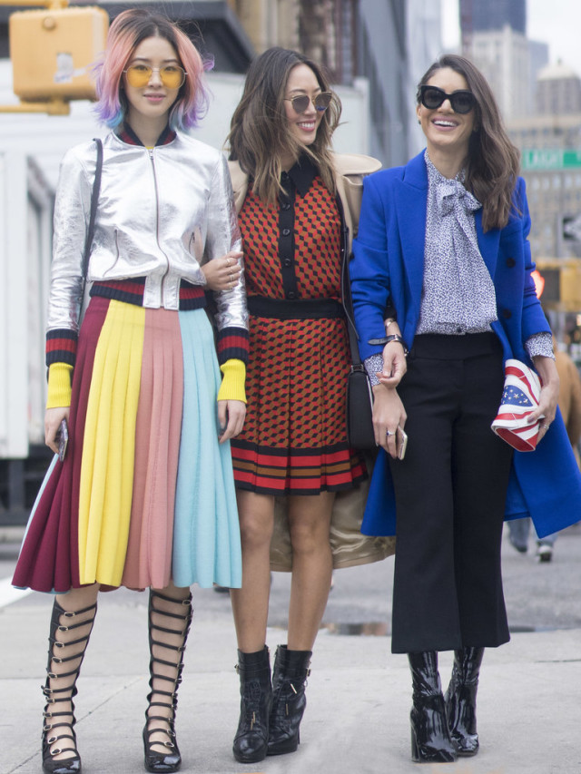 nyfw street style-aimee song-70s-prints-winter to spring transitional dressing-nyfw street style-ps