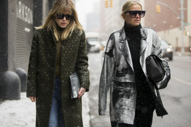 nyfw street style-winter style-winter outfits-what to wear when its freezing snowing-nyfw street style 2016