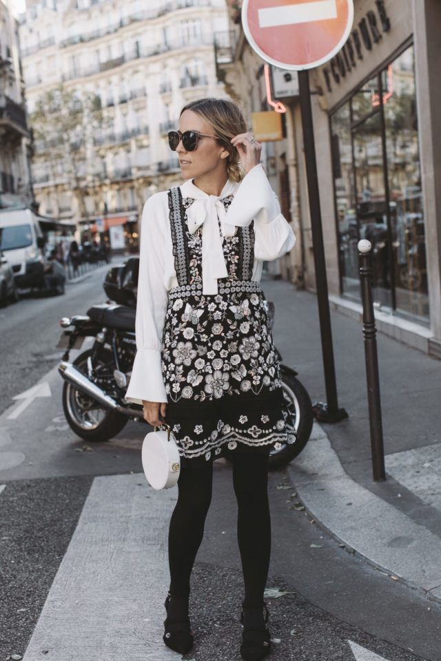 pfw-street-style-ss-2017-pussy-bow-blouse-fall-florals-lace-fall-work-outfit-office-to-out-damsel-in-dior