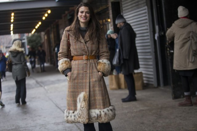 statement coat-belted coat-fur tirim coat-glen pallaid-tweed-editor style-nyfw street style 2016