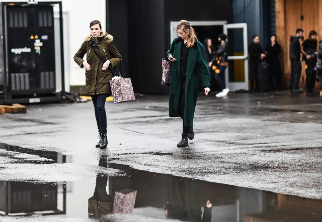 what to wear when it's raining, nyfw street style