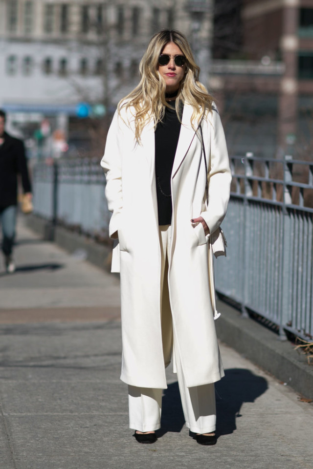 winter whites-white oat-black and white-black turtleneck sweater-winter work outfit-wide leg pants-nyfw street style-ps