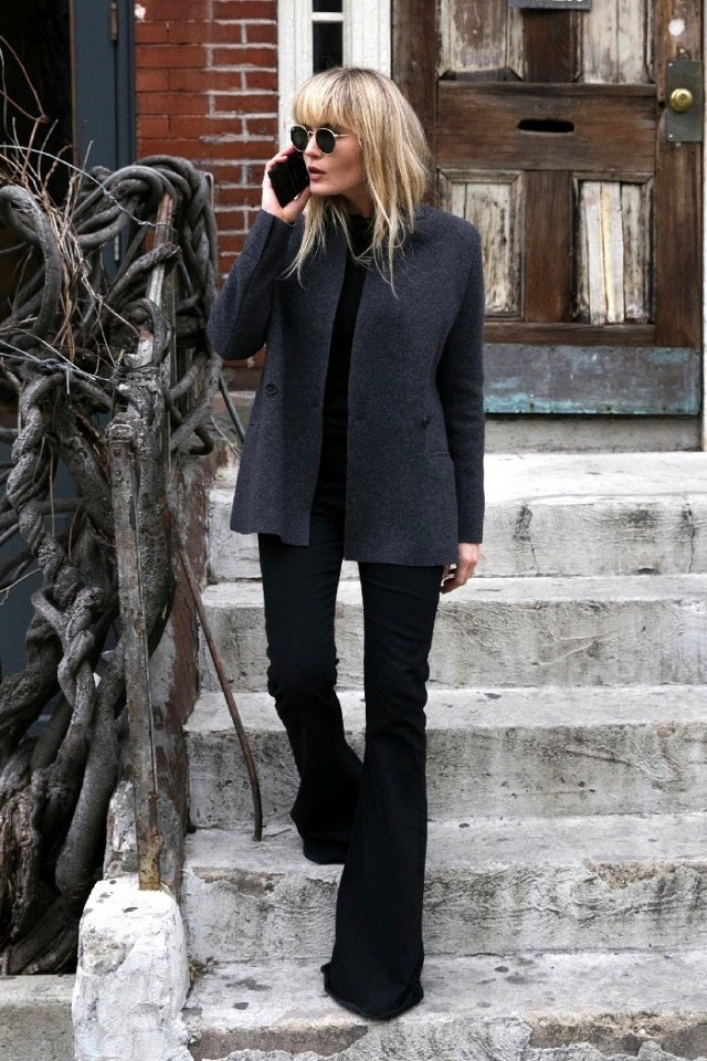 black flares-black and grey-work weekend-brooke testoni via www