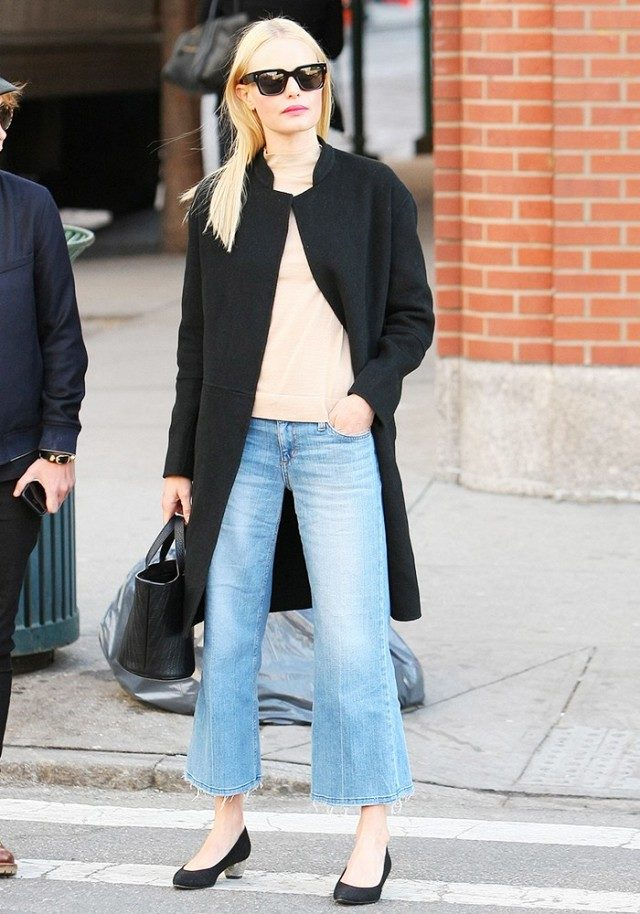 What to Wear This Weekend, How to Wear Cropped Flares, Kate Bosworth