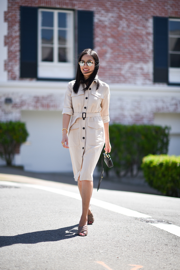 What to Wear to Work This Week, Gucci Mules, Shirtdress