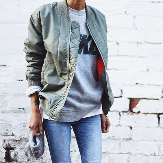 weekend-graphic sweatshirt-bomber jacket-