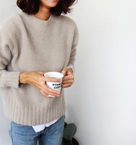 what to wear this weekend, sweater-coffee-