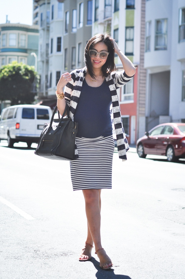 9 to 5 chic maternity style