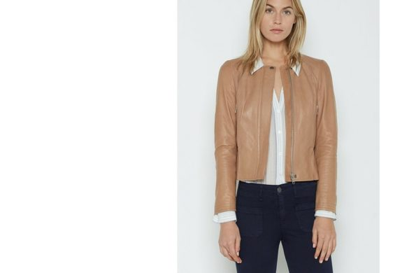 Smart Buy Joie Tamila Tan Leather Jacket