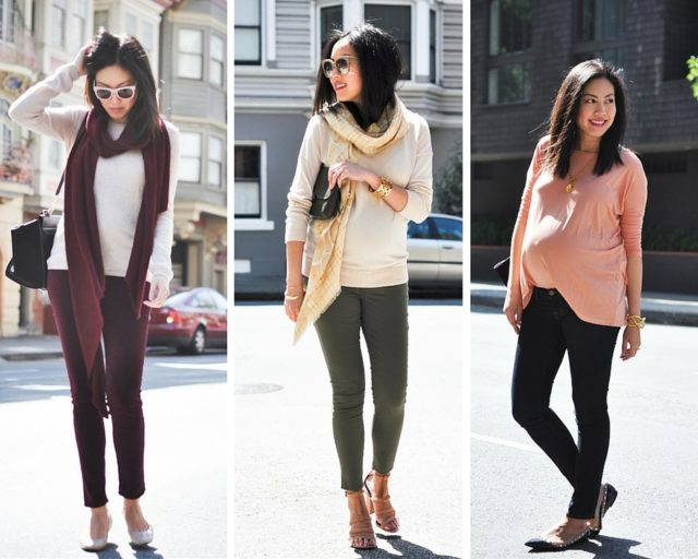 cfc-9 to 5 chic maternity style-skinnies and sweaters