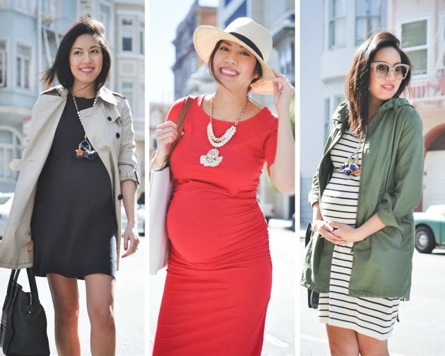 cfc-9 to 5 chic maternity style-statement necklaces