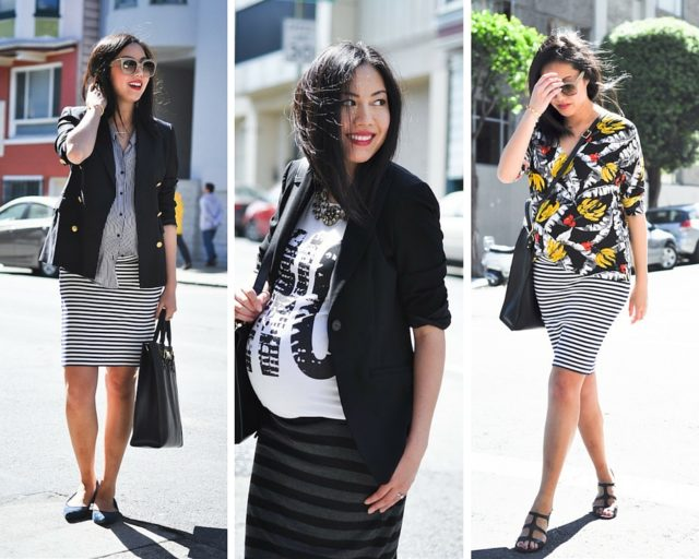 cfc-9 to 5 chic maternity style-tube skirts