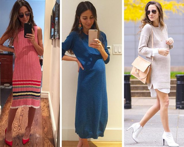 cfc-something navy maternity style-loose knit dresses