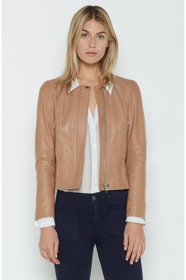 joie tamila tan leather jacket