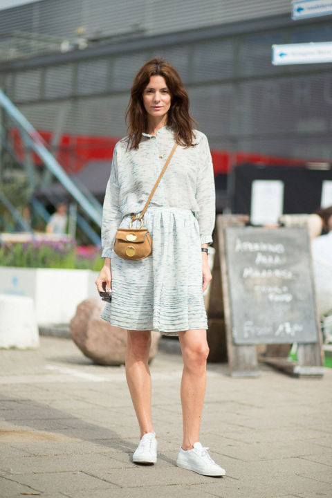 spring work outfit-spring dress-sneakers and dresses-sneakers and skirts-hbz