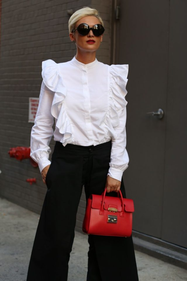 victorian-blouse-ruffles-wide-leg-pants-nyfw-street-style-ps-fall-work-outfit