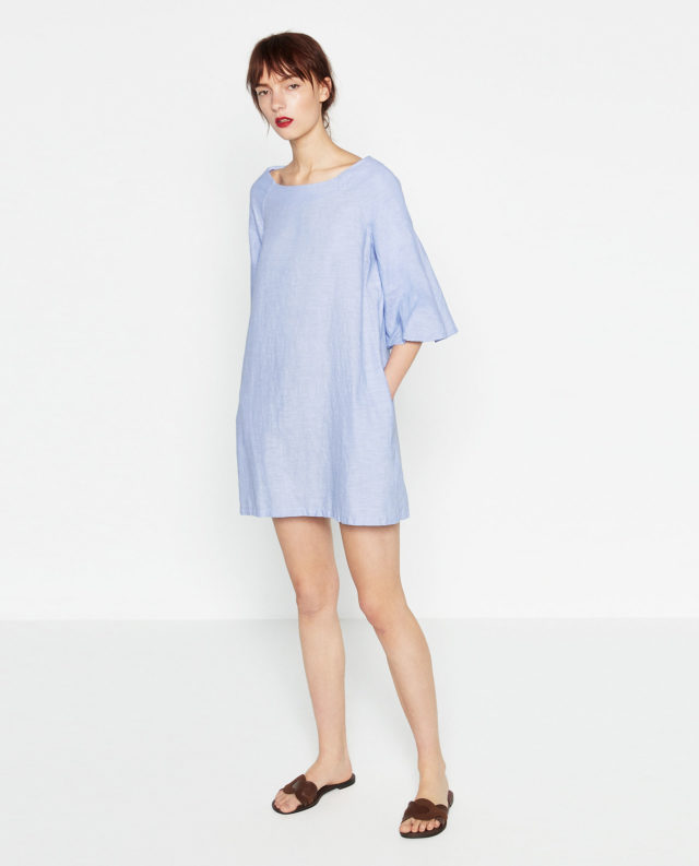 21791415c94 Boatneck Chambray Dress. 2492056406 1 1 1. zara
