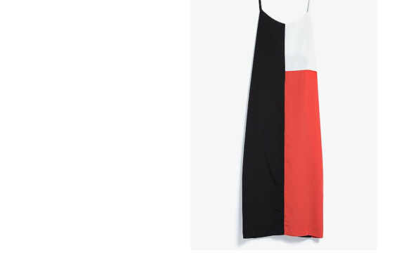 Smart Buy-colorblock slip dress
