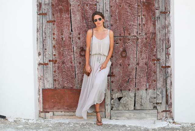 summer maxi dress-lace up sandals-summer weekend going out night out-party-