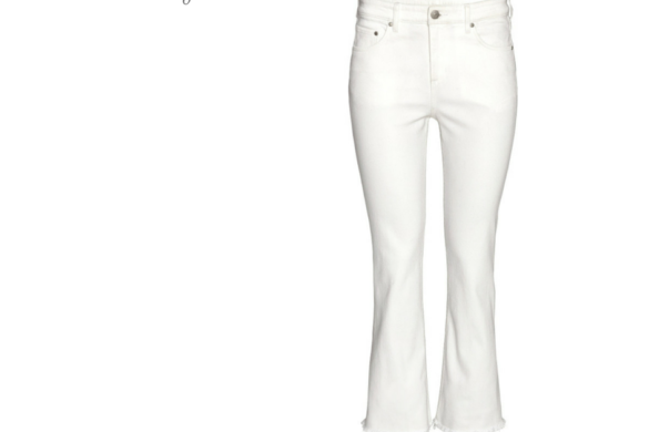 cfc-smart buy-hm cropped flare white jeans
