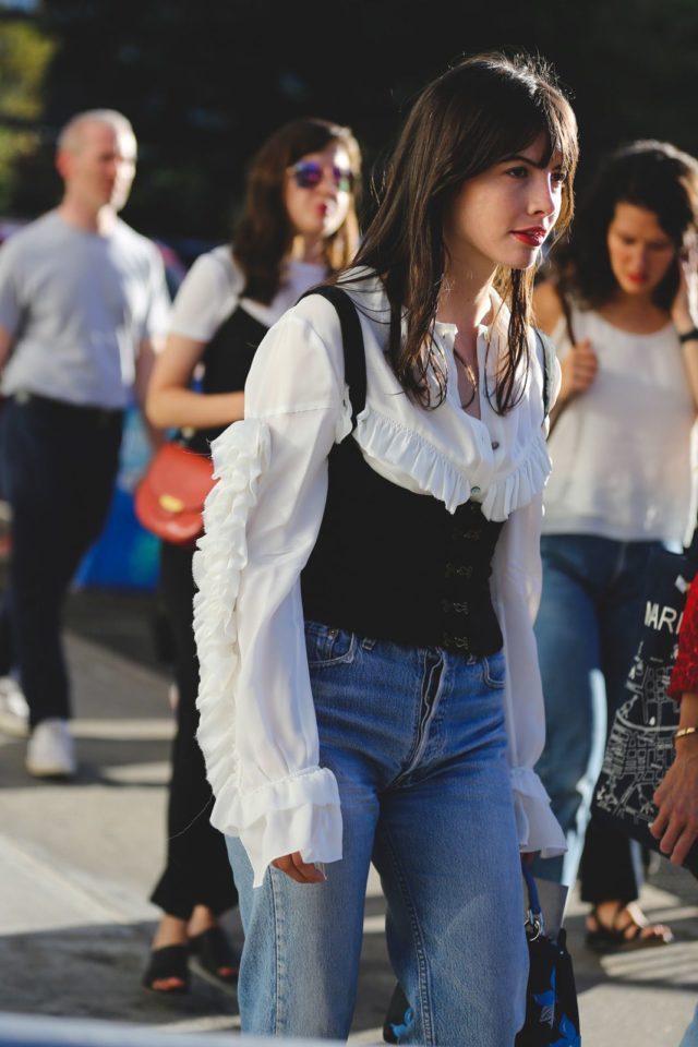 corset-over-shirt-mom-jeans-ruffles-nyfw-street-style-ref