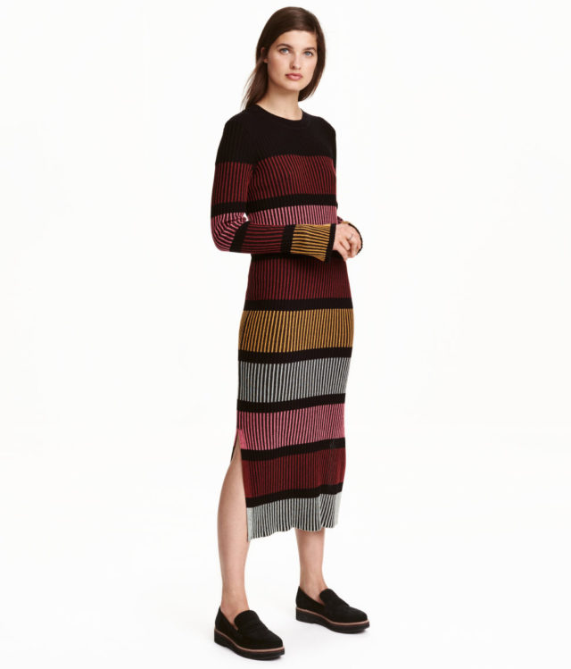 Smart Buy H Amp M Striped Midi Dress Closetful Of Clothes