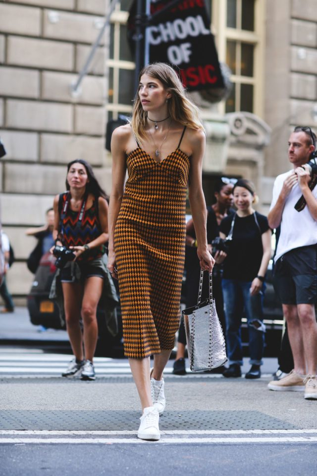 houndstooth-sneakers-and-dresses-chokers-slip-dress-nyfw-street-style-ref