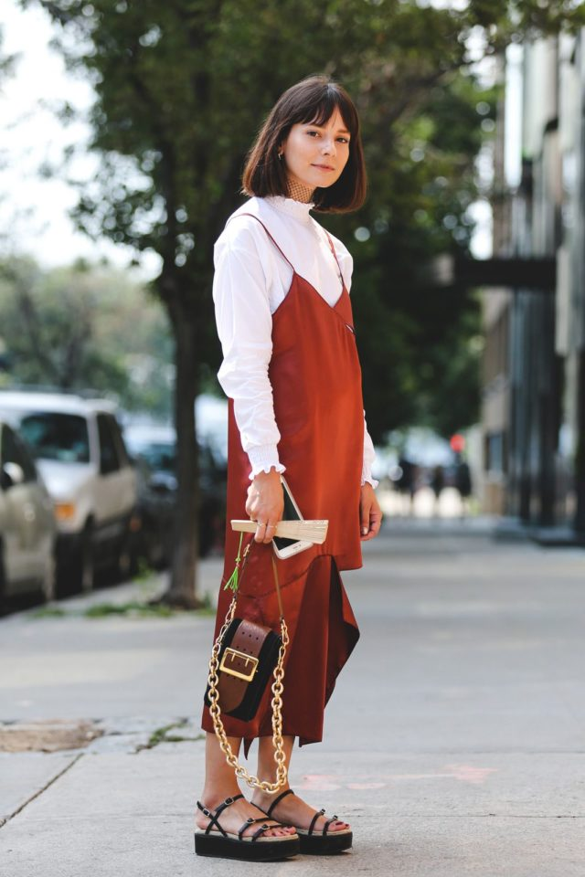 slip-dress-over-shirt-flatform-sandals-burnt-orange-nyfw-street-style-ref