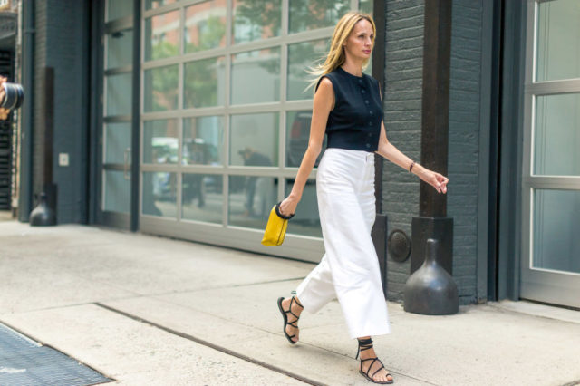 culottes-wrap-up-sandals-black-and-white-summer-to-fall-transitional-dressing-white-after-labor-day-lsd-fall-work-outfit-nyfw-street-style-hbz