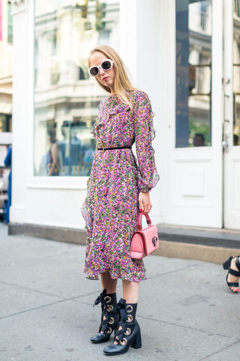 fall-florals-fall-floral-dress-top-handle-bag-grommets-nyfw-street-style-fall-fashion-hbz-fall-work-outfit