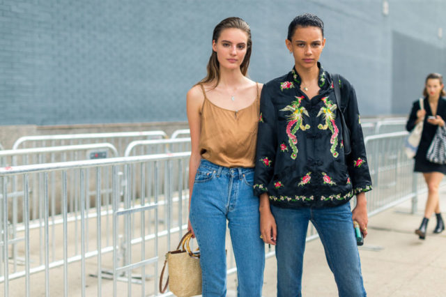 model-off-duty-style-straw-bag-asian-inspired-jacket-nyfw-street-style-fall-fashion-hbz-mom-jeans-cami